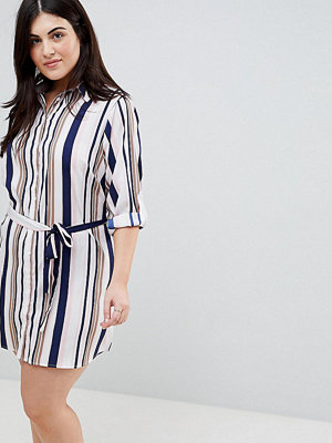 Ax Paris Plus Stripe Shirt Dress