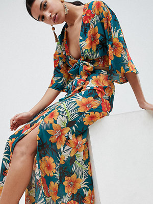 PrettyLittleThing Tropical Print Maxi Skirt