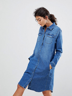 Lee Western Denim Dress - Bright mid