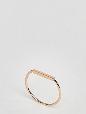 ASOS DESIGN Rose Gold Plated Sterling Silver Flat Bar Ring