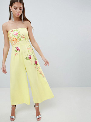 ASOS DESIGN Bandeau Jumpsuit With Embroidery