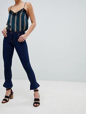 Parisian Skinny jeans med utsvängd nederkant Indigo