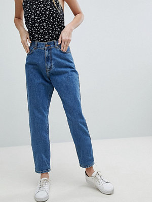 Dr. Denim Nora Super High Rise Mom Jean - Mid retro wash