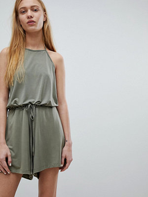 Dr. Denim Playsuit med knyt-hals Graceless green