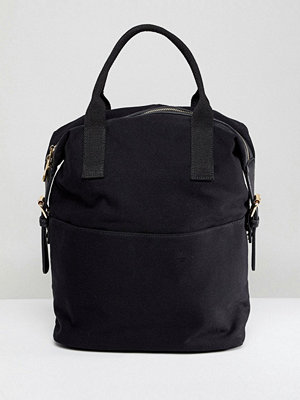 ASOS ryggsäck DESIGN Zip Over Canvas Backpack With Double Handle