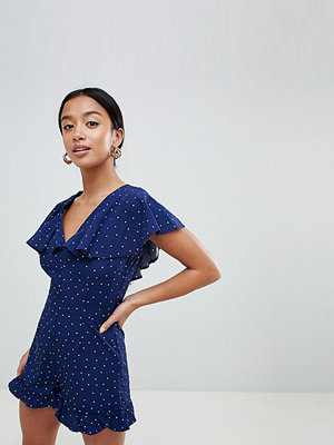 Missguided Petite Småprickig playsuit