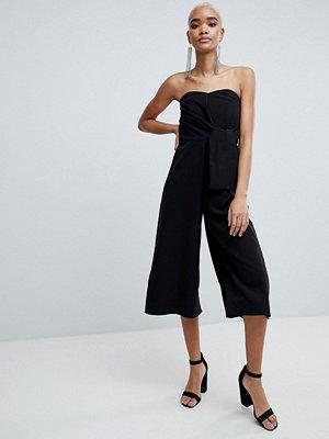 ASOS DESIGN Bandeau Jumpsuit With Tie Detail And Culotte Leg
