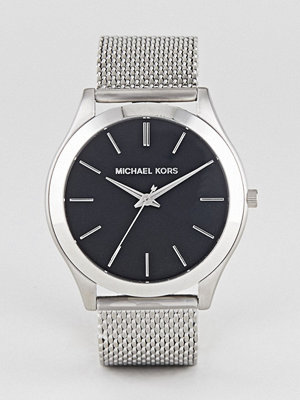 Klockor - Michael Kors MK8606 Slim Runway Mesh Watch In Silver 44mm