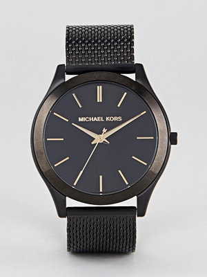 Klockor - Michael Kors MK8607 Slim Runway Mesh Watch In Black 44mm
