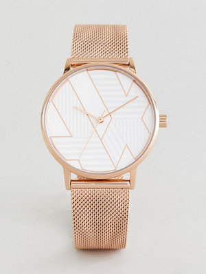 Klockor - Armani Exchange AX5550 Mesh Watch In Rose Gold 36mm