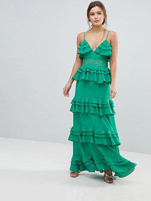 Boohoo Tiered Ruffle Maxi Dress