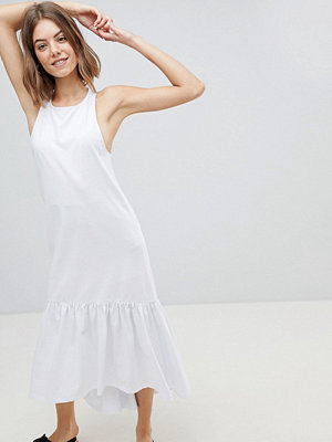 ASOS DESIGN Maxi Dress With Racer Back And Hi Lo Pep Hem