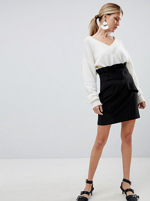 ASOS DESIGN tailored mini skirt with exaggerated paper bag waistst