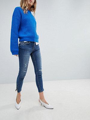 Oasis Skinny jeans med slits i fåll och sliten detalj