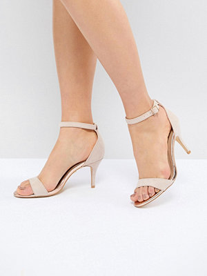 Oasis Barely There Heeled Sandals - Nude
