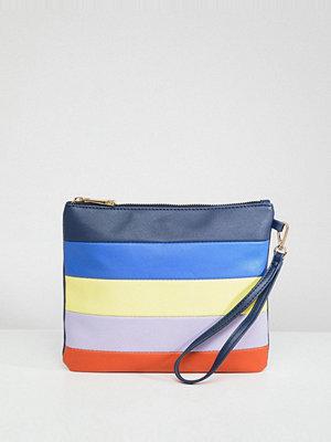 Oasis kuvertväska Multi Colour Stripe Clutch Bag - Multi