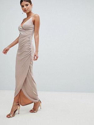 Girl In Mind Wrap Evening Maxi Dress