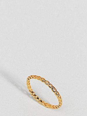 ASOS Gold Plated Sterling Silver Vintage Style Chain Ring