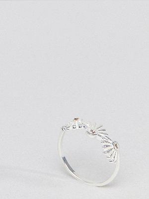 ASOS DESIGN Sterling Silver Western Fan Ring