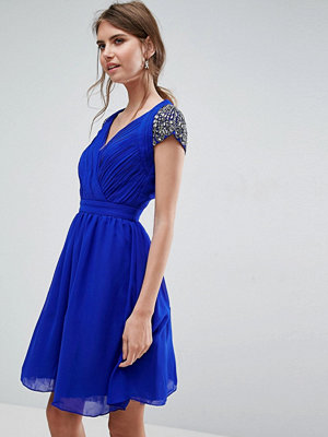 Little Mistress Exposed Back Embellished Prom Dress