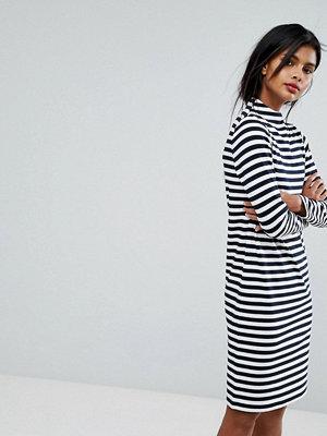Vila Striped High Neck Jumper Dress