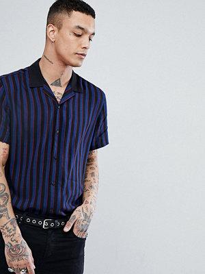 ASOS DESIGN oversized pin stripe shirt