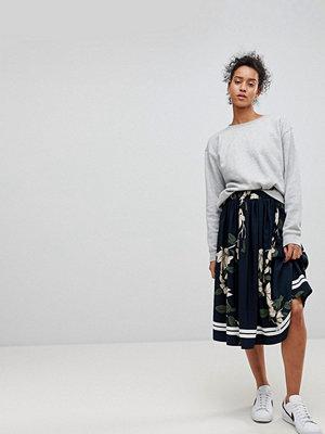 MOSS Copenhagen Floral Pleated Skirt