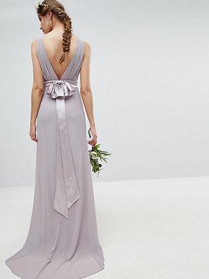 TFNC Tall Sateen Bow Back Maxi Bridesmaid Dress