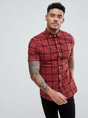 ASOS DESIGN skinny twill check shirt