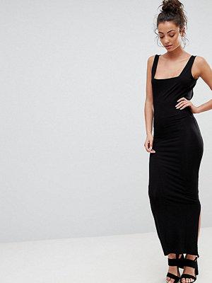 Asos Tall ASOS DESIGN Tall square neck city maxi bodycon dress