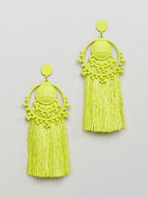 Bershka örhängen Bead And Tassel Earring