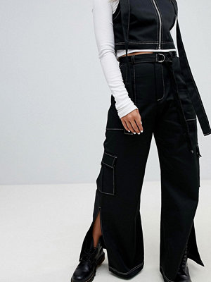 The Ragged Priest Wide Leg Denim Jeans With Splits