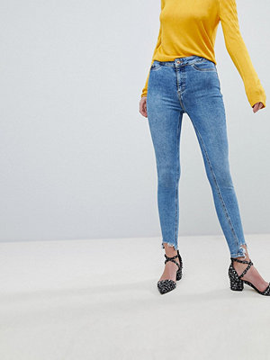 New Look Vanessa Jeans i super skinny fit med hög midja Mellanblå