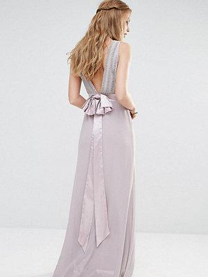TFNC WEDDING Bow Back Embellished Maxi Dress