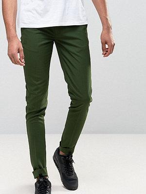 ASOS TALL Super Skinny Smart Trousers In Dark Green