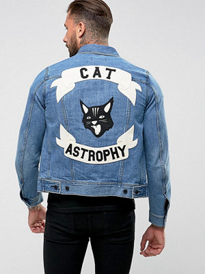 Jeansjackor - Diesel J-Ashton Catastrophy Denim Jacket