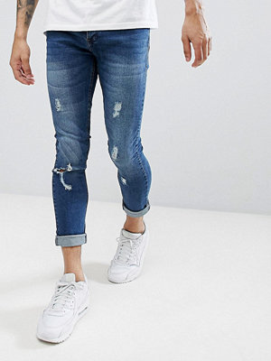 Jeans - Brave Soul Fade Out Distressed Skinny Jeans