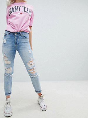 Tommy Jeans Izzy High Rise Slim Jean with Exaggerated Rips