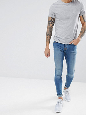 Jeans - Hoxton Denim Extreme Skinny Jeans in Mid Wash Blue