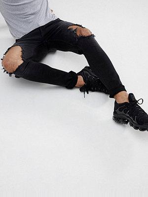 Jeans - Hoxton Denim Super Skinny Jeans in Washed Black