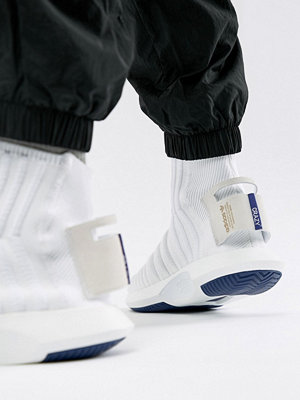 Sneakers & streetskor - Adidas Originals Crazy Sock Primeknit Trainers In White CQ1012