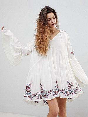 Free People Te Amo Flared Sleeve Mini Dress - Neutral combo