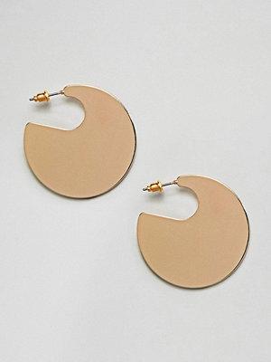 ASOS örhängen DESIGN Solid Circle Hoop Earrings