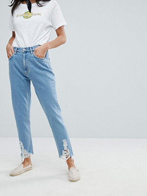 MiH Jeans Mom Jeans With Ladder Distressed Hem