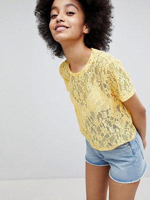 Monki T-shirt i spets