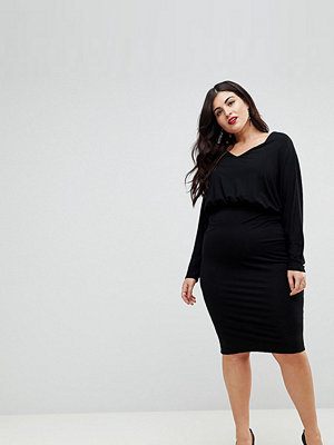 ASOS Curve Batwing Sleeve Midi Dress