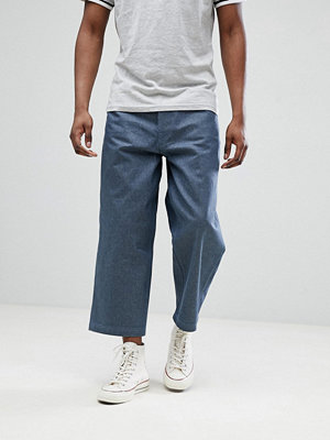 Jeans - ASOS DESIGN Wide Leg Cropped Jeans In Raw Grey