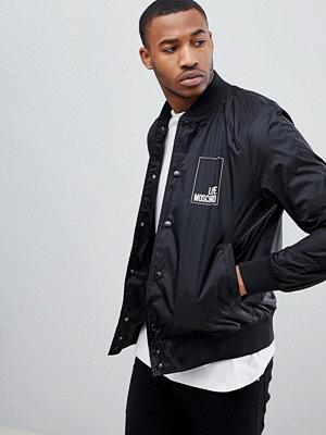 Bomberjackor - Love Moschino Bomber Jacket In Black With Back Print