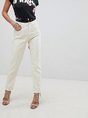 G-Star 3301 Raka ankellånga jeans med ultrahög midja Elfenben