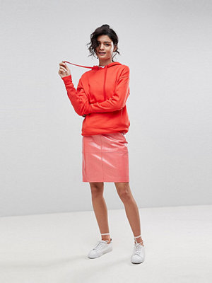 2nd Day Patent Leather Pencil Skirt - Coral